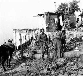 Los Cañones, en el turó de la Rovira, hacia 1955.