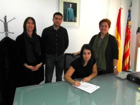 Joana Mohedano tomó posesión de su cargo el pasado viernes en el Juzgado de Paz de Alfafar.