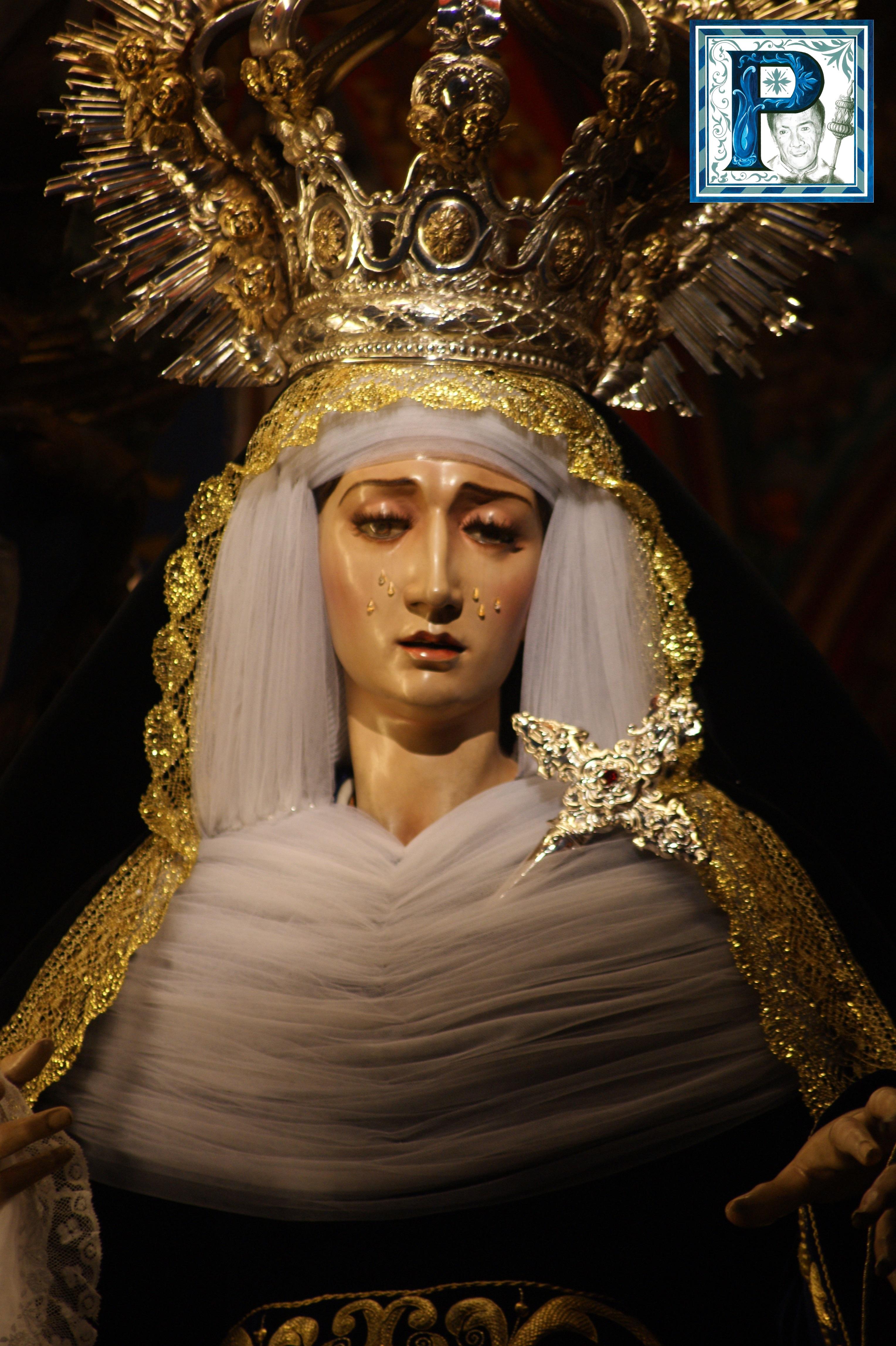 La Virgen del Desconsuelo y del Silencio ataviadas para la festividad de los Fieles Difuntos