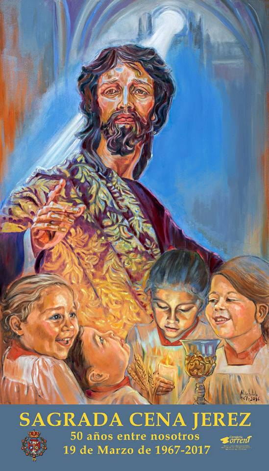 Una pintura de Nuria Hurtado anuncia el 50 aniversario del Señor de la Sagrada Cena