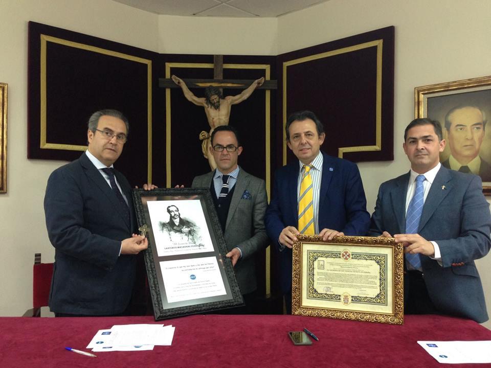 Firma del convenio de colaboración entre la Unión de Hermandades, a través de su Obra Social y la Sociedad San Vicente de Paúl