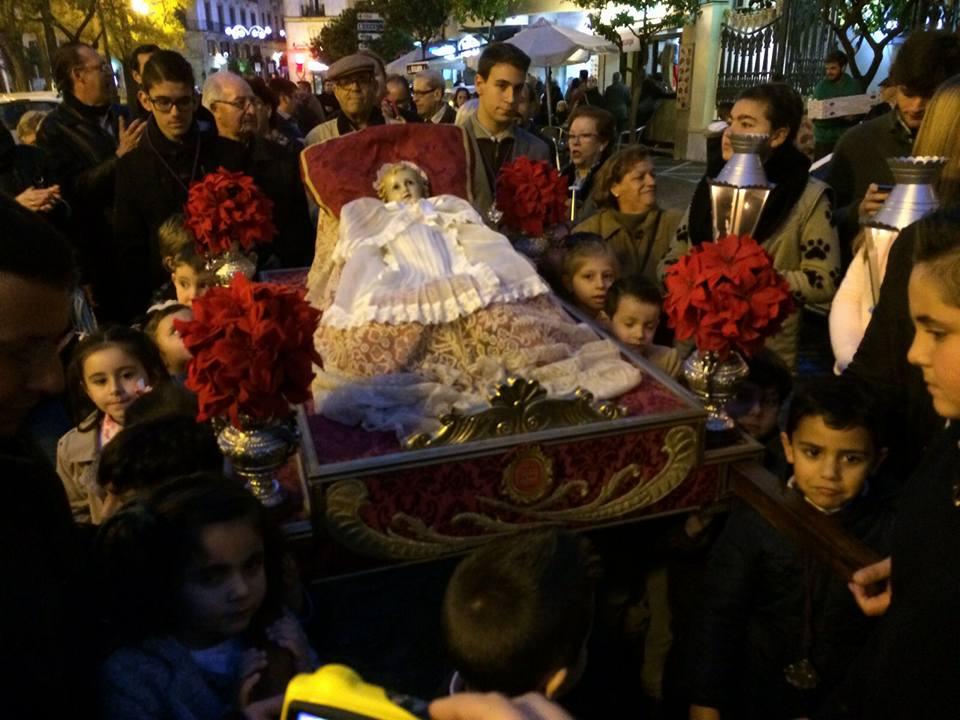 El Niño Jesús será trasladado hoy al Belén Monumental de la Alameda Cristina