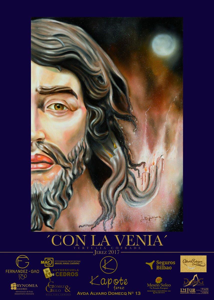 """El Señor de la Clemencia ilustra el cartel de la Tertulia Cofrade """"Con la Venia"""""""