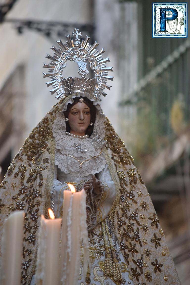 El Sagrado Corazón y la Virgen de la Palma procesionan hoy por las calles de su feligresía