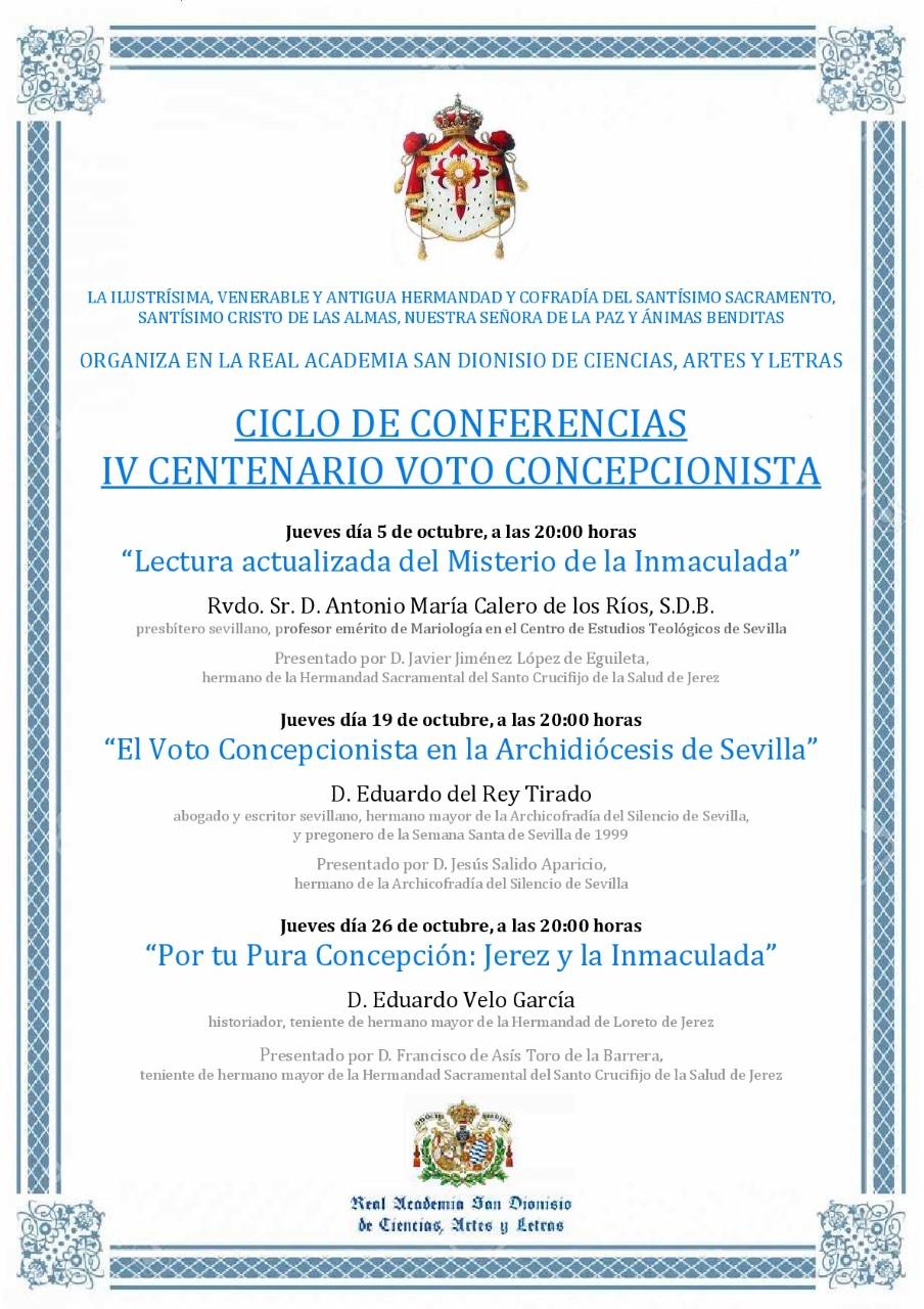 Ciclo de Conferencias con motivo del IV Centenario del Voto Concepcionista
