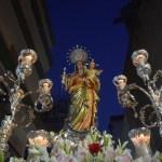 La procesión de la Virgen del Rosario del Beaterio desde el objetivo de Lucas Álvarez