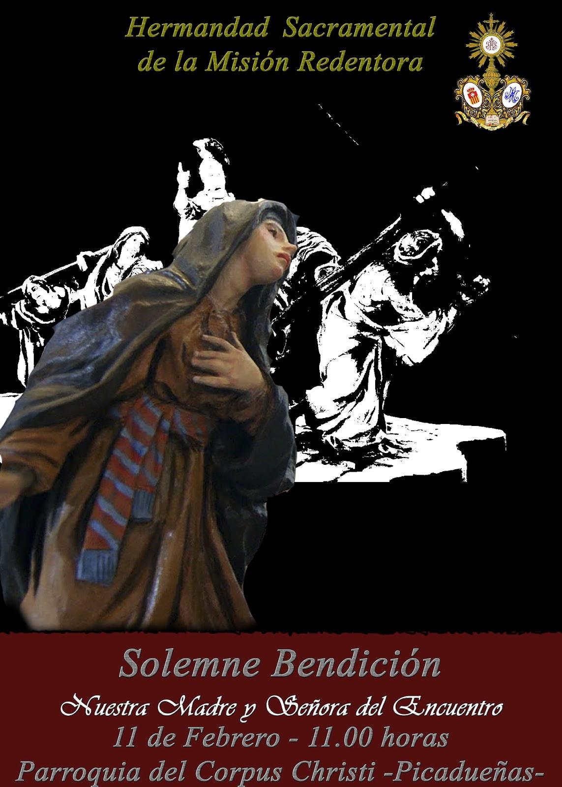 El once de febrero se bendecirá la Virgen del Encuentro