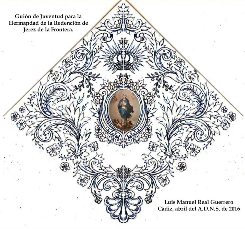 Presentado el boceto del banderín de juventud de la Hermandad de la Redención