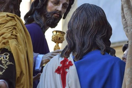 """A PIE DE PASO: """"La salida del Señor de la Sagrada Cena"""""""