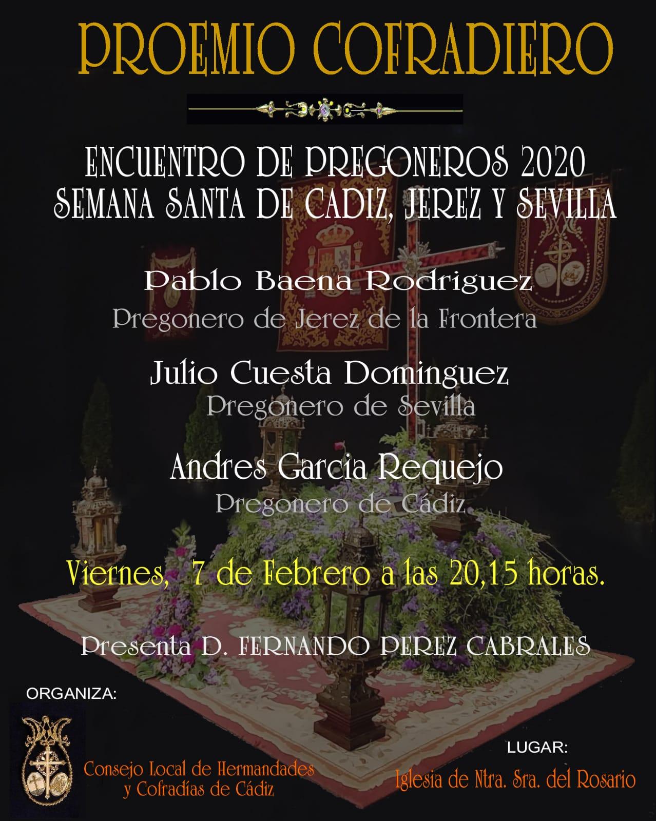 Proemio cofradiero entre los pregoneros de Sevilla, Cádiz y Jerez