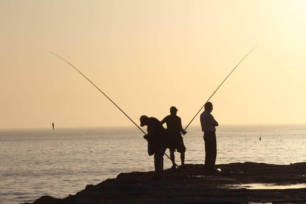 tres Pescadores al atardecer