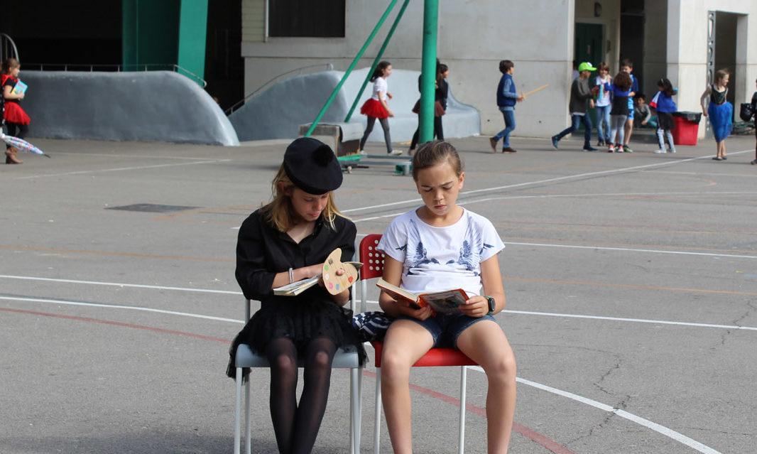 Un patio entero para leer