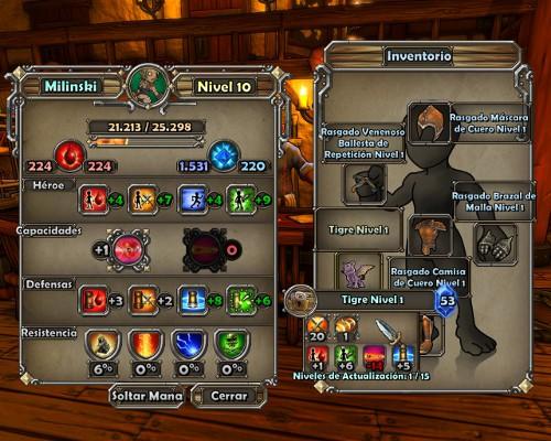 Dungeon Defenders información héroe