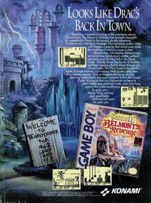 Castlevania 2: Belmont's Revenge ad