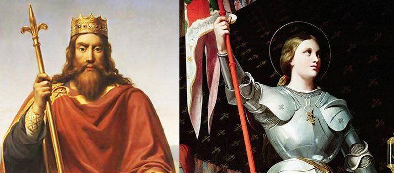 En el caso de Clodoveo I las voces que escuchaba eran las de San Hilario de Poitiers, mientras que en el caso de Juana de Arco eran asuntos diabólicos.