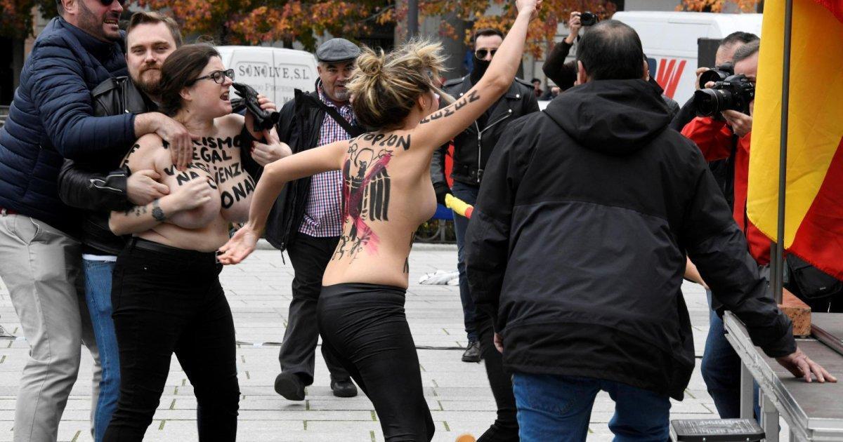 Activistas de Femen irrumpen en un homenaje a Franco