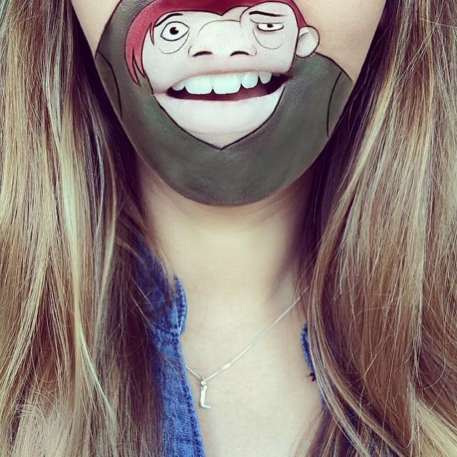 Cartoon-Lip-Art-By-Makeup-Artist-Laura-Jenkinson-11