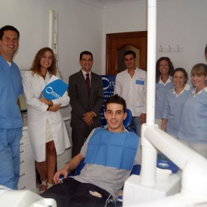 El equipo profesional con Serrejón, Bebe y Fabio.