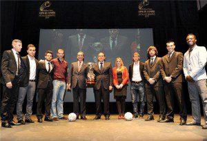 Foto de familia sorteo Copa de España