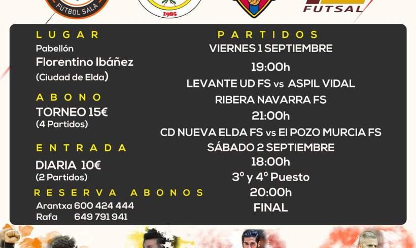 Pretemporada  ElPozo Murcia disputa un torneo ante Ribera Navarra, Levante y Nueva Elda como anfitrión (1 y 2 Sept)