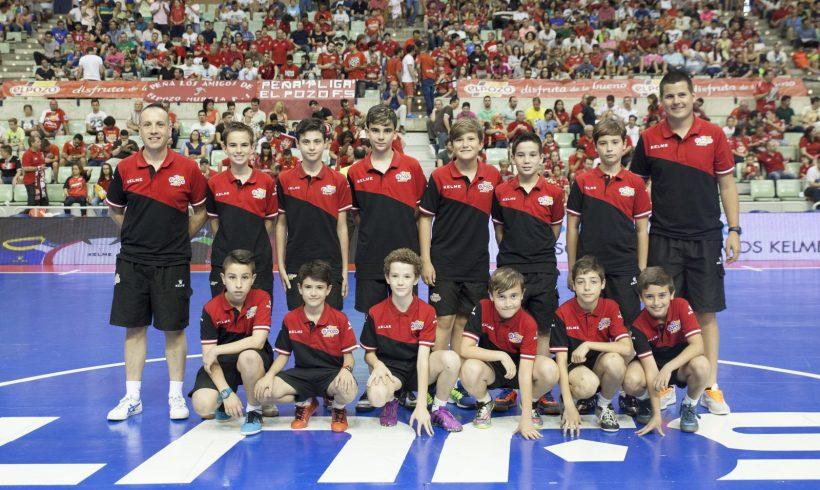 Homenaje al equipo Alevín B ElPozo FS en el 2º Partido Semifinales