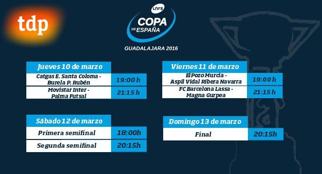 Horarios XXVII Copa de España Guadalajara 2016