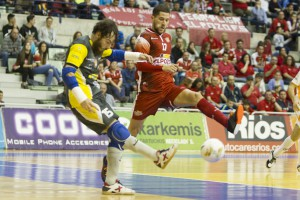 Murcia, LNFS, campeonato de Liga Regular Futbol Sala, encuentro entre ElPozo Murcia FS vs aspil Vidal Ribera Navarra, jornada 11, Palacio de los deportes de Murcia, Temporada 2015-2016.