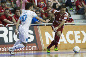 Murcia, 18-09-2015, Campeonato Liga Regular LNFS, encuentro entre Elpozo Murcia FS vs Catgas Energia Santa Coloma, Palacio de los Deportes de Murcia, Jornada 2, Temporada 2015-2016.