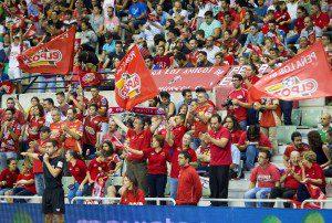Murcia, 03-10-2015, LNFS, Primra Division Futbol sala, encuentro entre ElPozo Murcia vs Peñiscola FS, Palacio de los Deportes de Murcia, Jornada 4, Temporada 2015-2016.