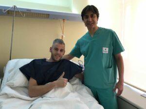 Un éxito. Miguelín con Dr Paco Mtnez