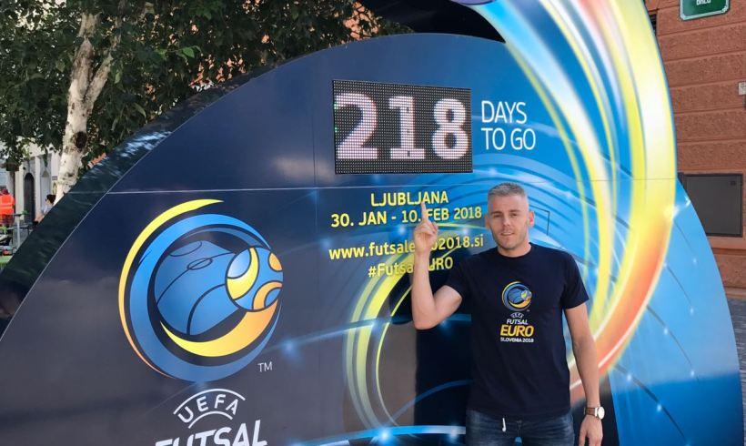 EUROPEO| Miguelín ejerce de embajador con UEFA para presentar el Europeo 2018 de Eslovenia en Ljubljana
