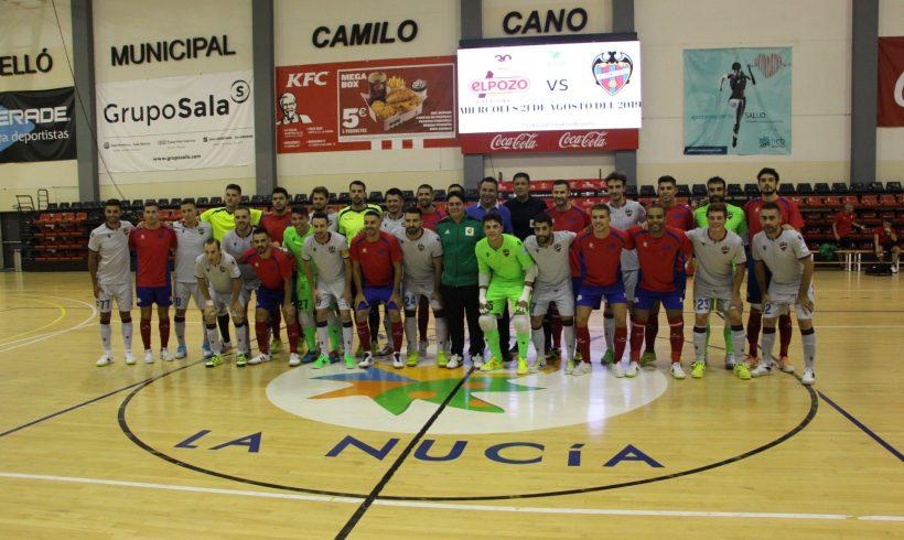 ElPozo Murcia FS se impone 3-2 a Levante y completa la pretemporada antes de la Intercontinental