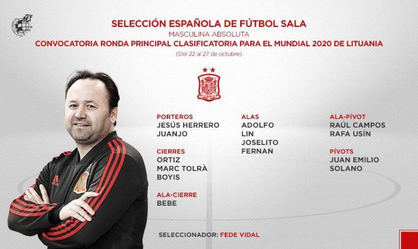 SELECCIÓN| Fernando y Marc Tolrà, convocados con España para la 1ª Fase Clasificación Mundial