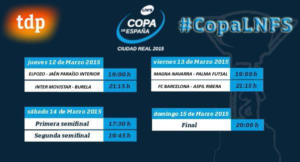 Ya se conocen los emparejamientos de la XXVI Copa de España 'Ciudad Real 2015'