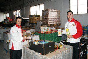 Juanpi y Bebe en el Banco de Alimentos del Segura