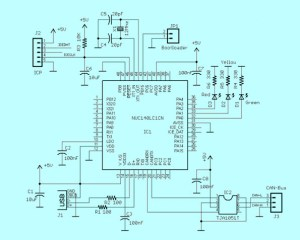 CAN Interface to USB with Schematic Diagram