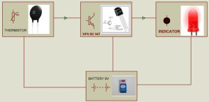 Steps to Build Simple Fire Alarm Circuit using Thermistor