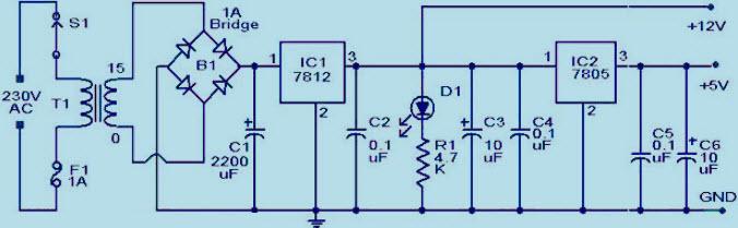 5V AND 12V Power Supply Unit