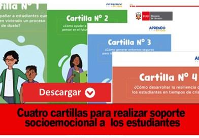 Descargue las Cuatro cartillas para realizar soporte socioemocional a los estudiantes Publicadas por la MINEDU
