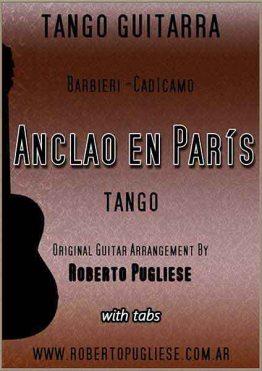 Anclao en Paris 🎼 partitura tango guitarra