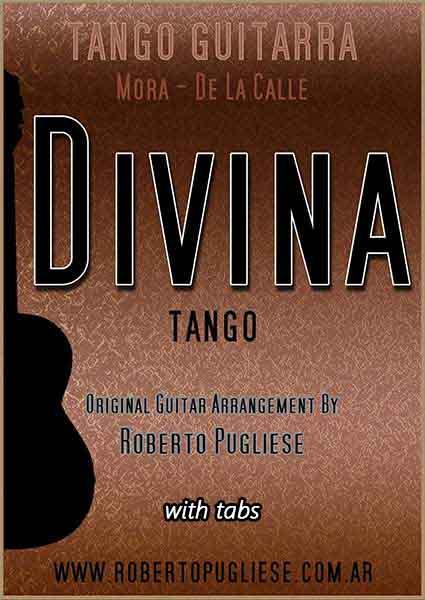 Divina 🎼 partitura del tango para guitarra