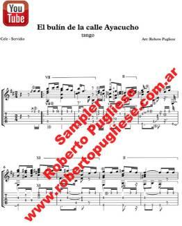 El bulín de la calle Ayacucho 🎼 partitura del tango para guitarra