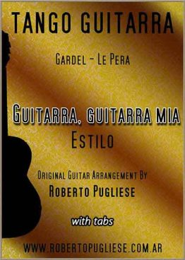 Guitarra, guitarra mía 🎼 estilo partitura en guitarra.
