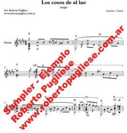 Los cosos de al lao 🎼 tango partitura de guitarra