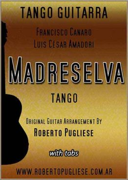 Madreselva 🎼 partitura del tango guitarra y video