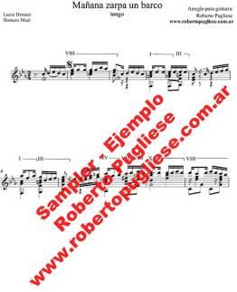 Mañana zarpa un barco 🎼 partitura del tango guitarra y video