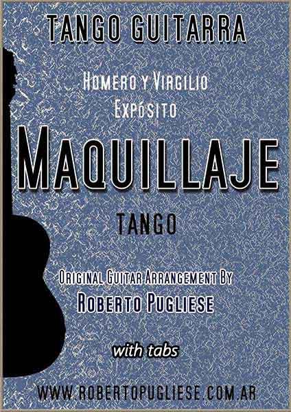 Maquillaje 🎼 partitura tango en guitarra. Con video