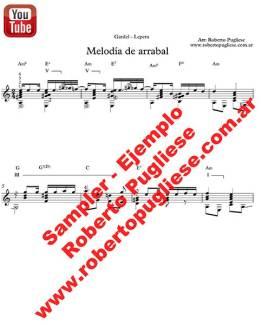 Melodia de arrabal 🎼 partitura del tango en guitarra. Con video