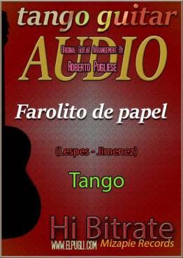 Farolito de papel mp3 tango en guitarra por Roberto Pugliese