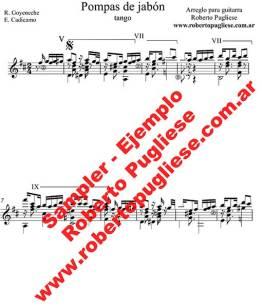 Pompas de jabón 🎼 partitura del tango en guitarra. Con video